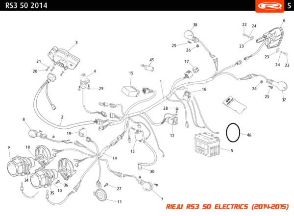 Rieju RS3 50 Electrical Parts